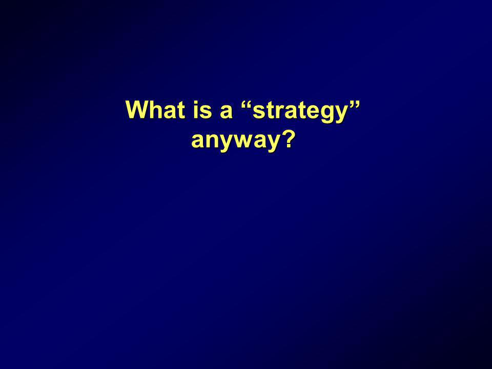 What is a strategy anyway?