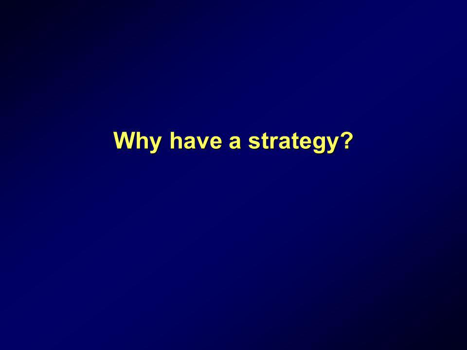 Why have a strategy?