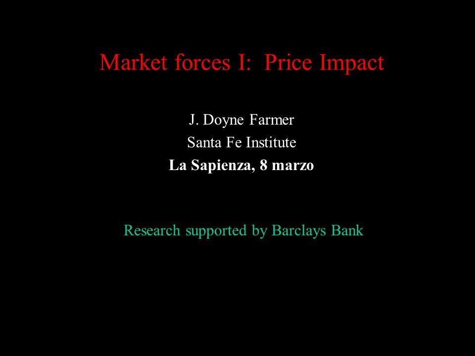Market forces I: Price Impact J.