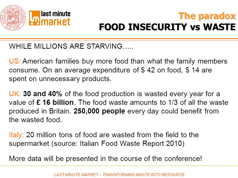 The paradox FOOD INSECURITY vs WASTE WHILE MILLIONS ARE STARVING…..