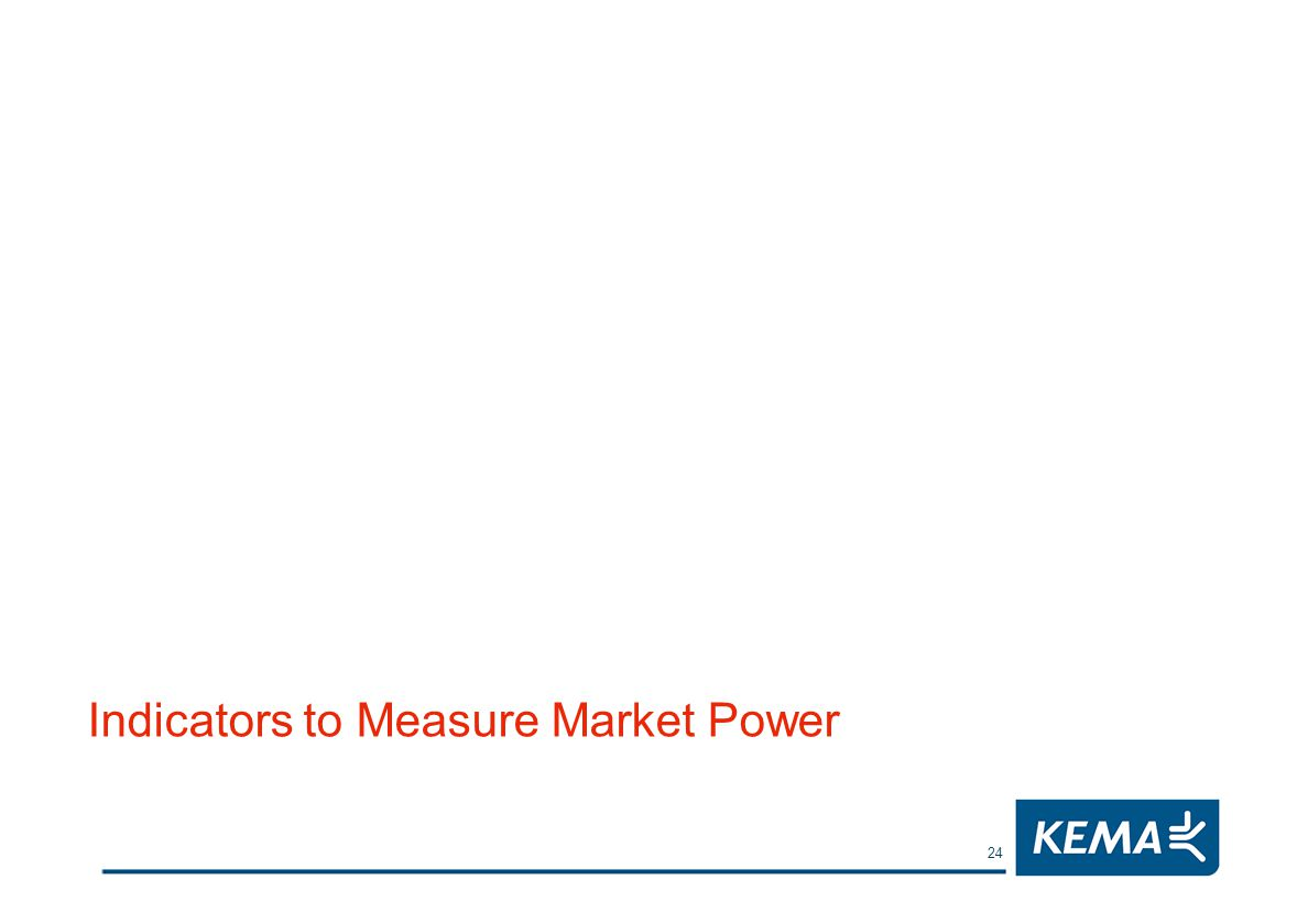 24 Indicators to Measure Market Power