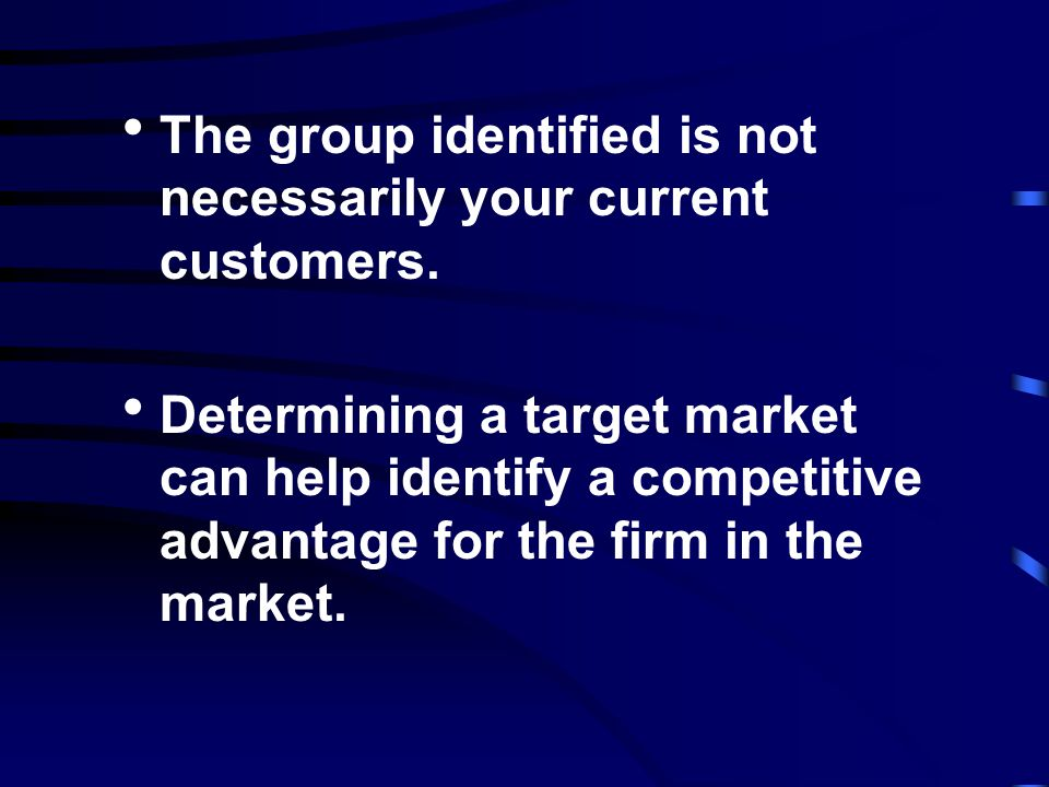 A target market is not simply whoever is now buying, or will buy your horticultural products! The target market consists of the individuals or busines