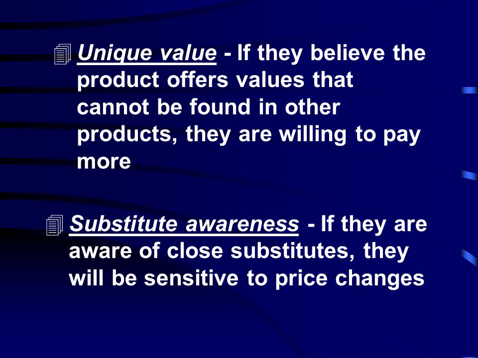Some aspects of pricing strategy Qualitative - What firms can use to guide pricing is a qualitative technique, judging price sensitivity from customer
