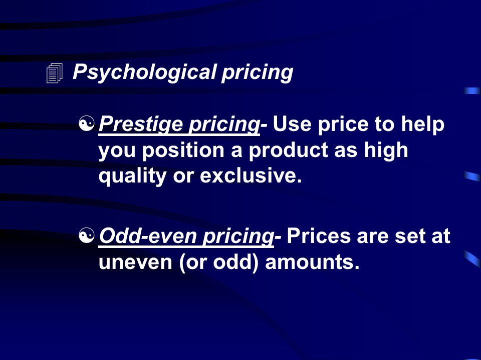 4Penetration pricing- When a firm wants to increase their presence in a given market, they often do so by setting a low price with the specific intention of gaining market share.