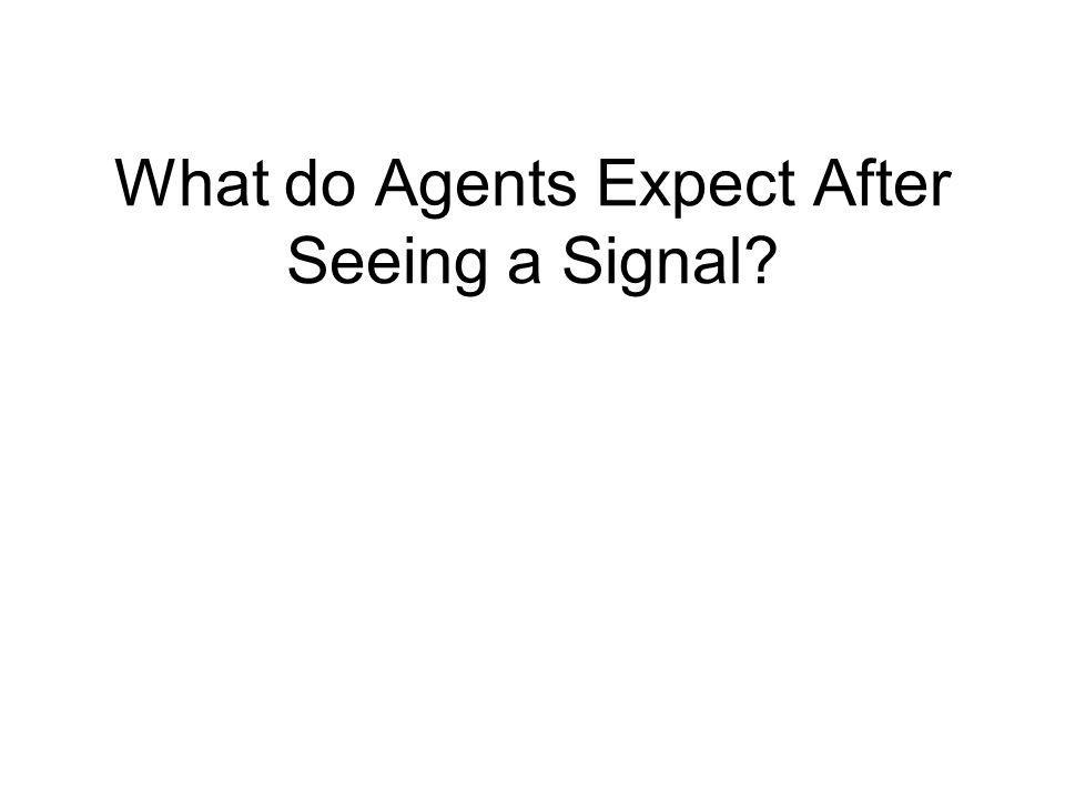 What do Agents Expect After Seeing a Signal?