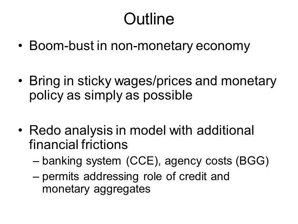 Monetary Policy Target interest rate Actual interest rate: Parameters of monetary model