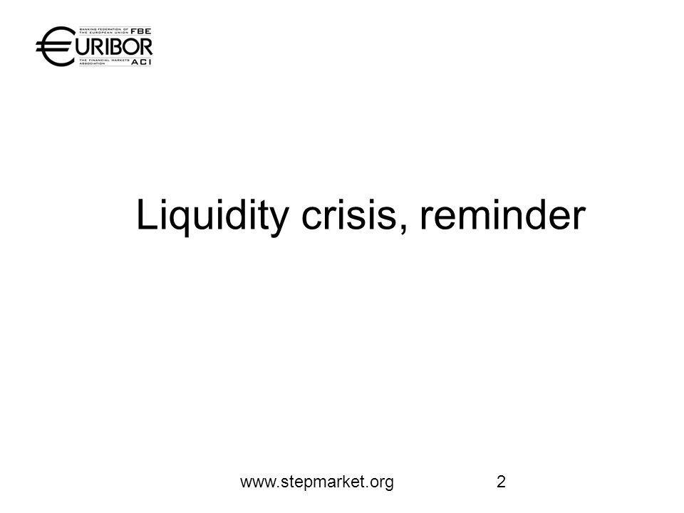 www.stepmarket.org2 Liquidity crisis, reminder