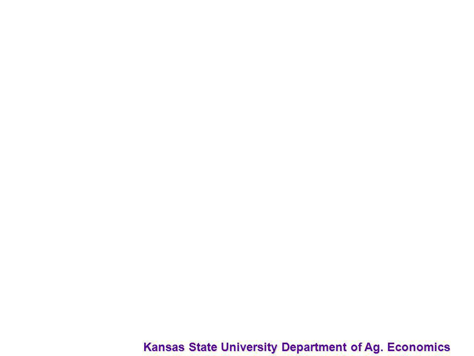 Kansas State University Department of Ag. Economics