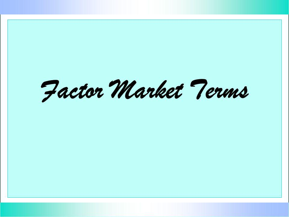 Factor Market Terms