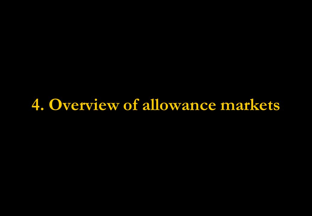 4. Overview of allowance markets