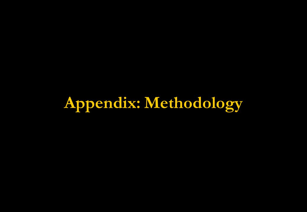 Appendix: Methodology