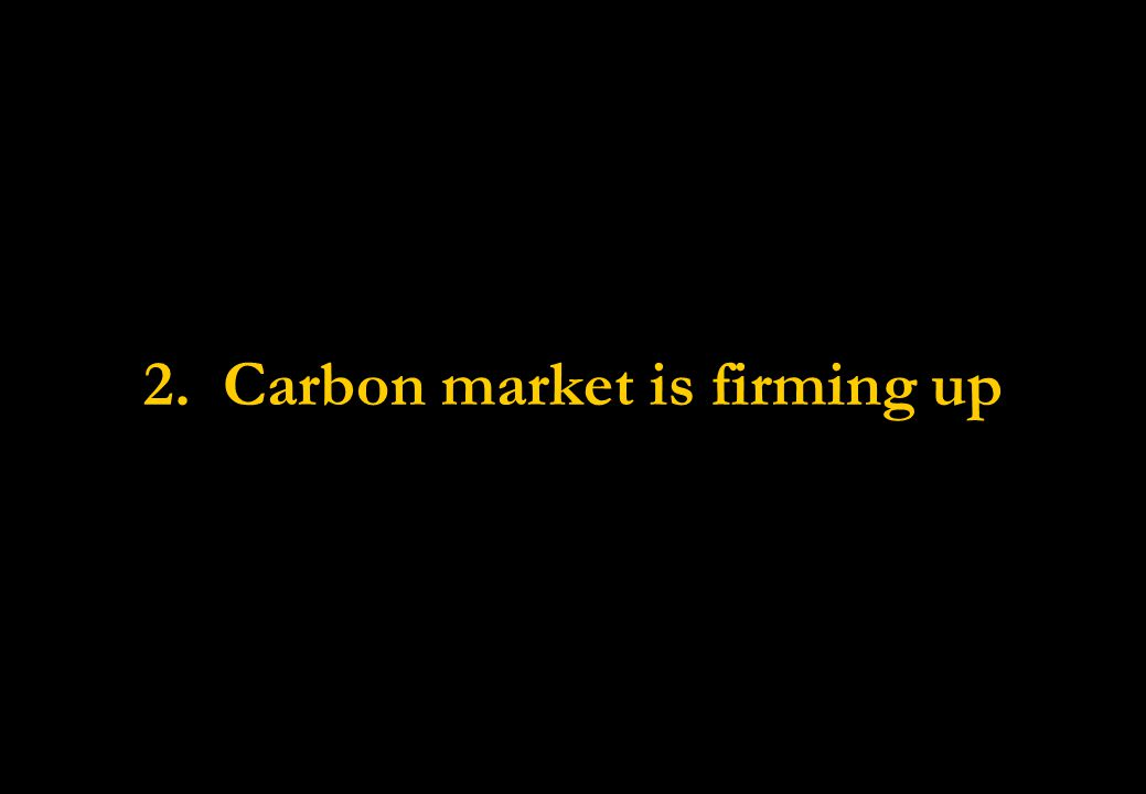 2. Carbon market is firming up