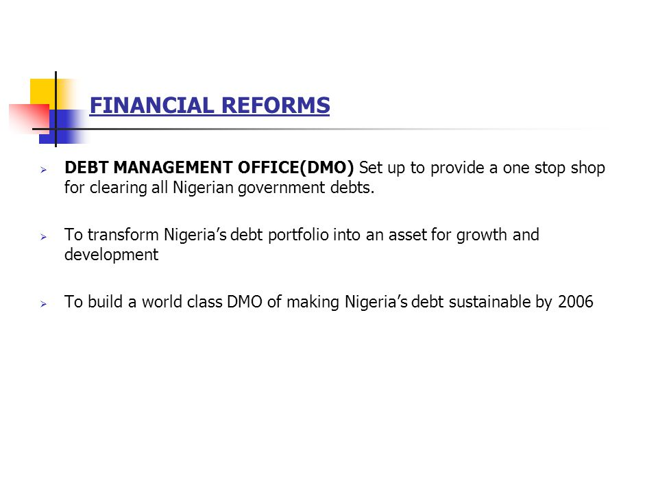 BANK CONSOLODATION Prior to consolidation Nigeria had 89 banks, many with capital base <$10m.