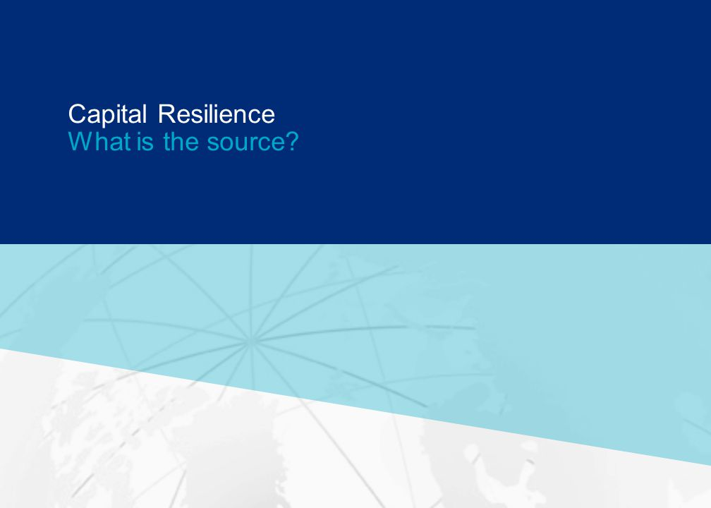 GUY CARPENTER Capital Resilience What is the source