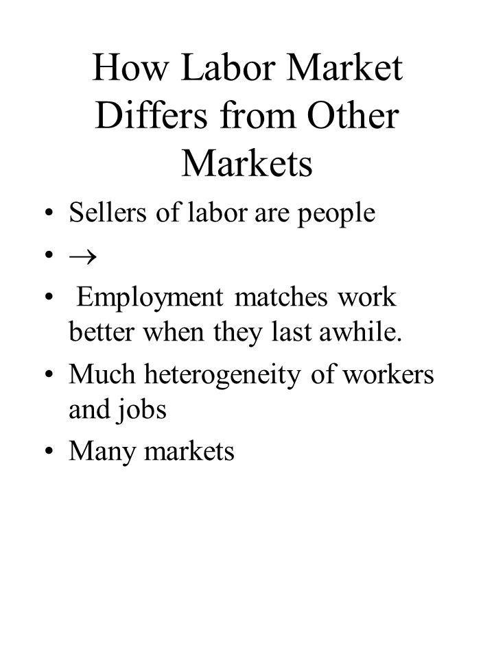 5 Key Labor Market Outcomes 1.