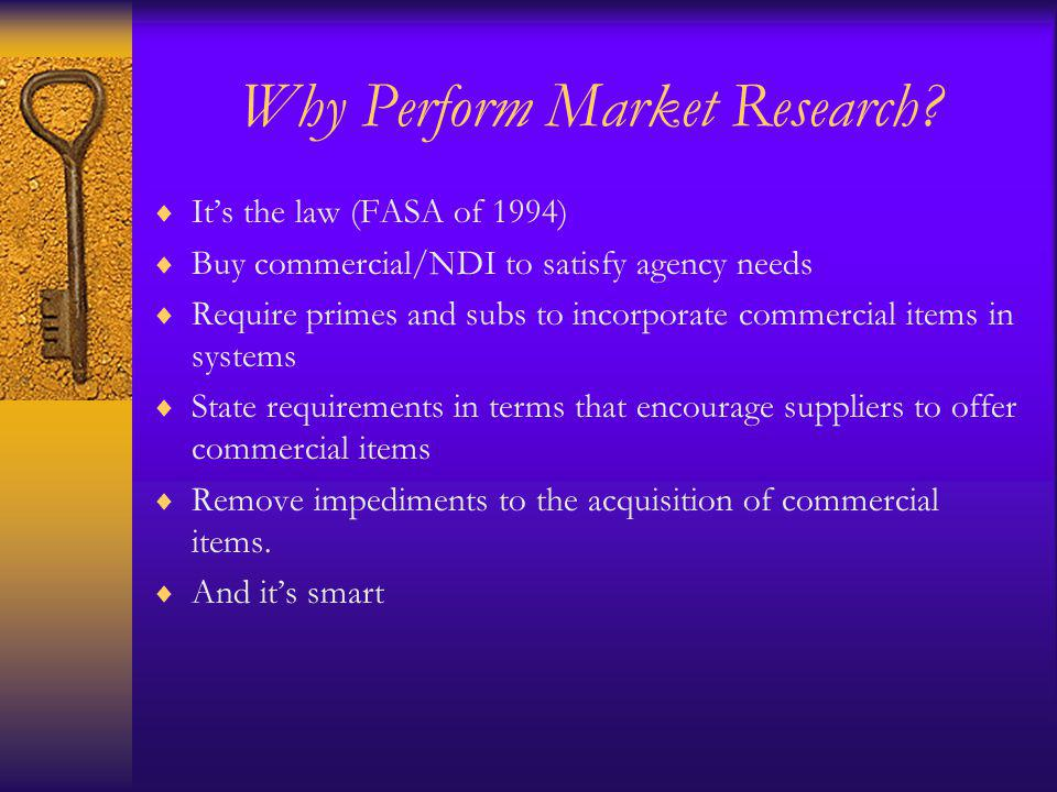 Why Perform Market Research.