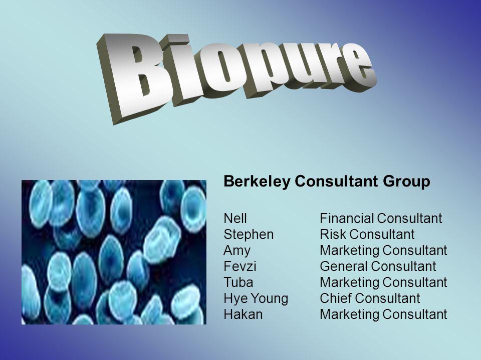 NellFinancial Consultant StephenRisk Consultant AmyMarketing Consultant FevziGeneral Consultant TubaMarketing Consultant Hye YoungChief Consultant HakanMarketing Consultant Berkeley Consultant Group