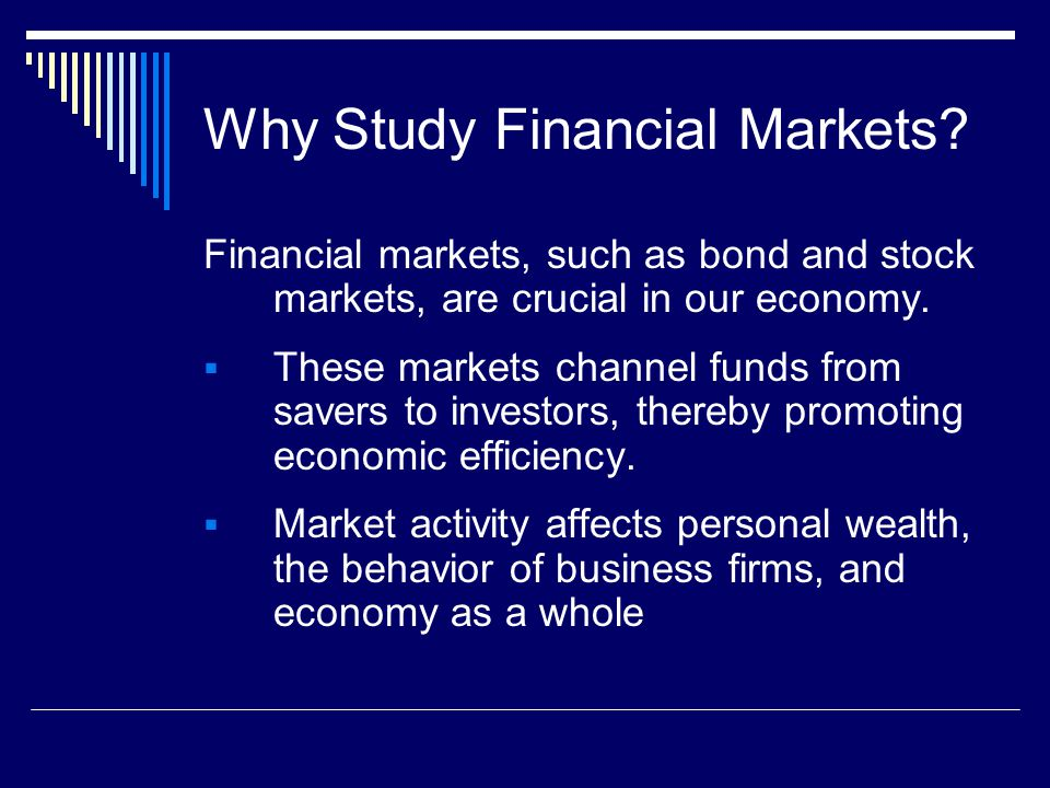 Why Study Financial Markets.