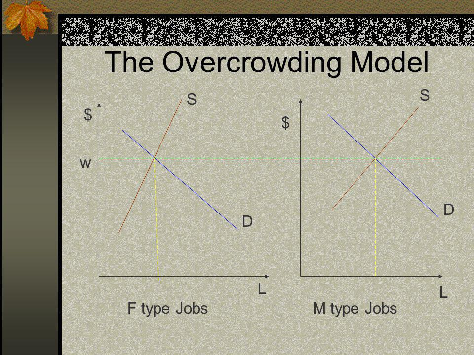 The Overcrowding Model F type JobsM type Jobs w $ $ L L S S D D
