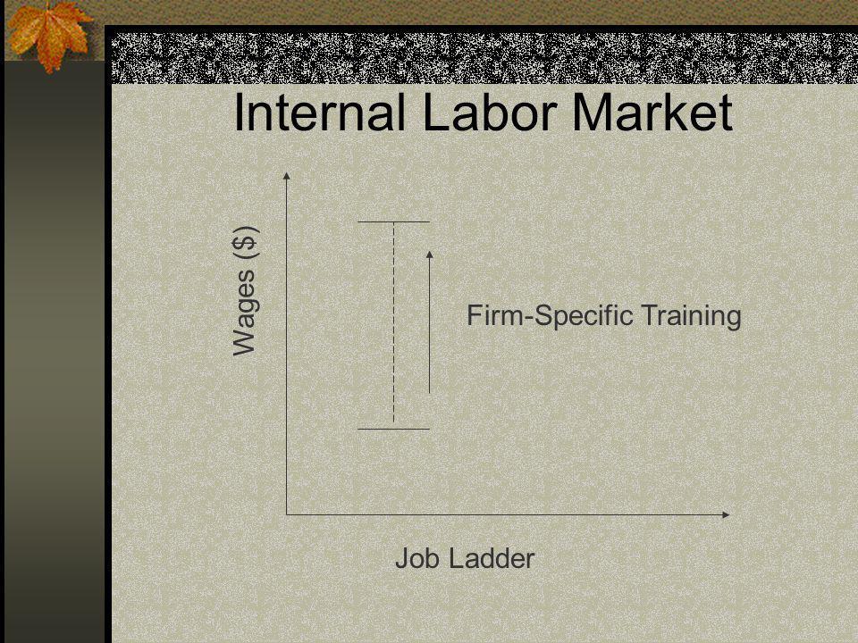 Internal Labor Market Wages ($) Job Ladder Firm-Specific Training