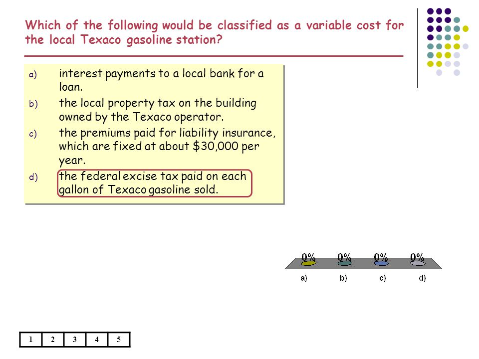 a) interest payments to a local bank for a loan.