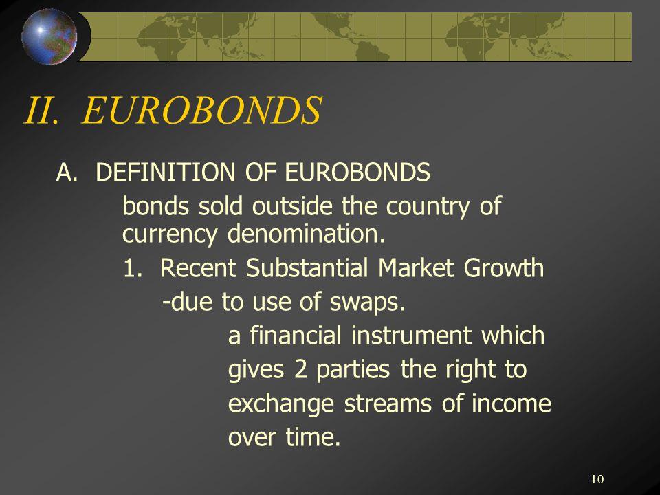 10 II. EUROBONDS A.