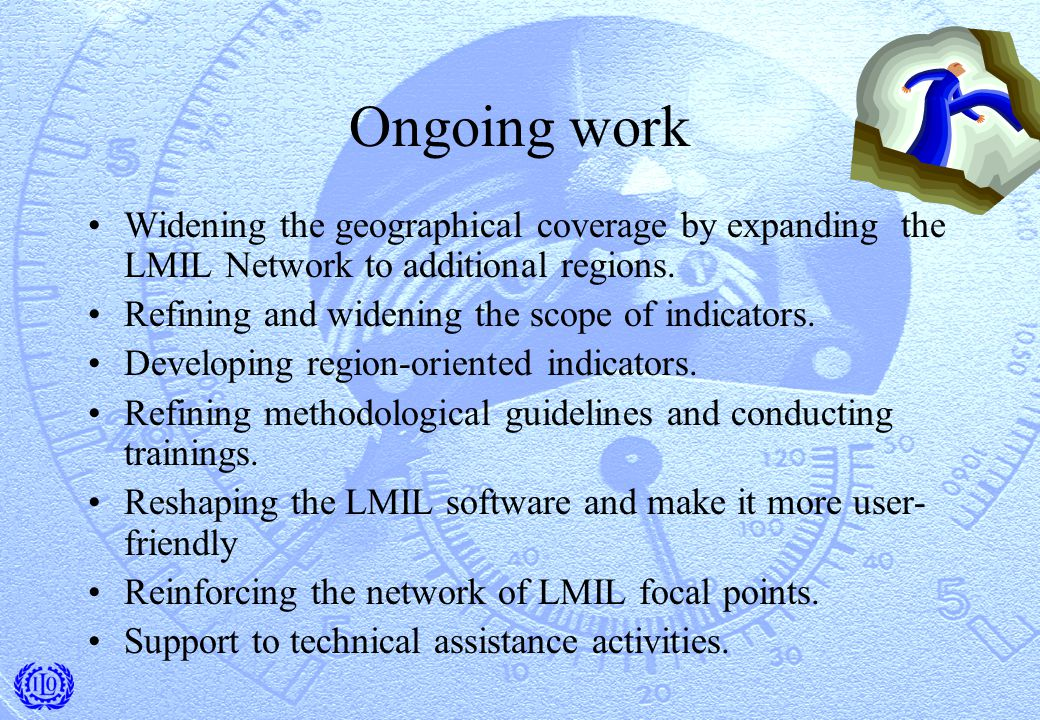 Ongoing work Widening the geographical coverage by expanding the LMIL Network to additional regions.
