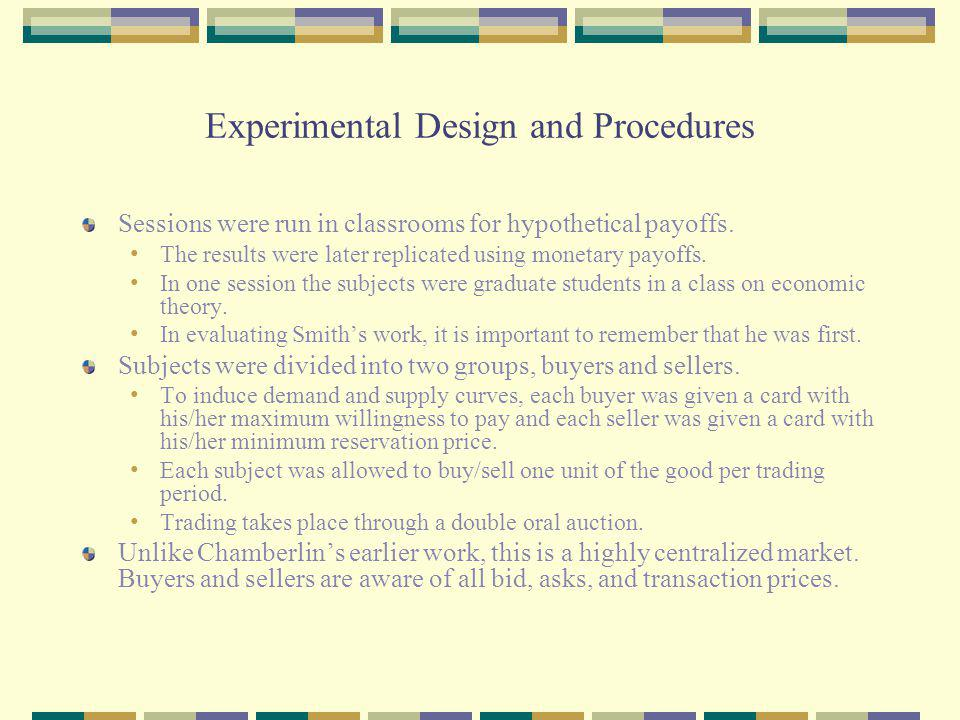 Summary of Sessions The sessions focus primarily on the effect of vary the shape of the supply and demand curves.