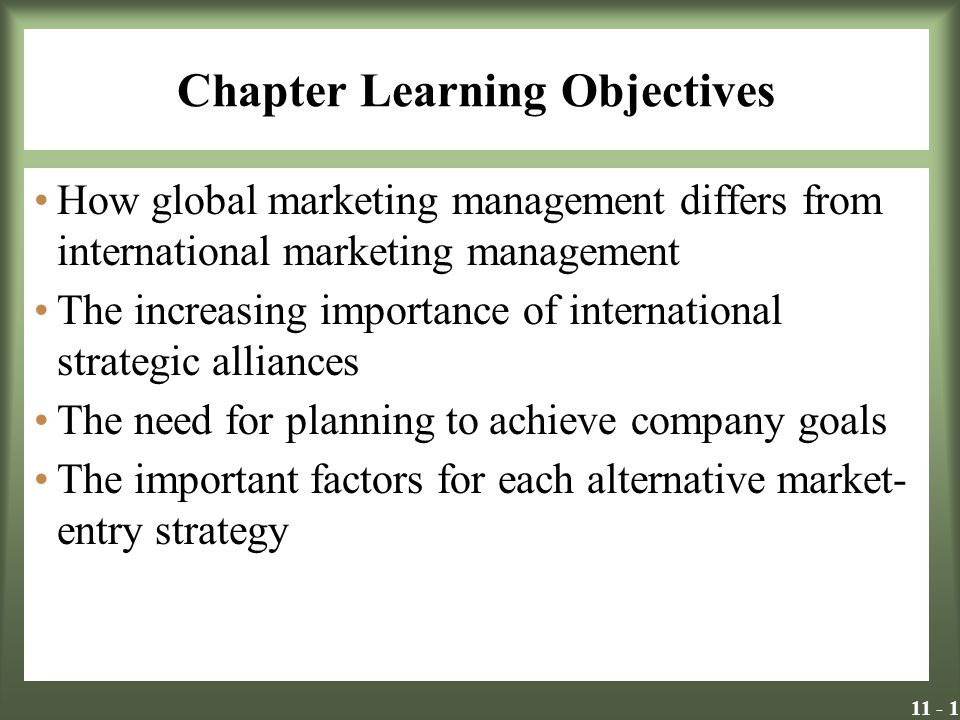 11 - 12 Strategic International Alliances A strategic international alliance (SIA) is a business relationship established by two or more companies to cooperate out of mutual need and to share risk in achieving a common objective SIAs are sought as a way to shore up weaknesses and increase competitive strengths.