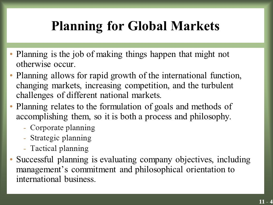 11 - 15 Direct Foreign Investment Factors that have been found to influence the structure and performance of direct investments: -Timing -The growing complexity and contingencies of contracts -Transaction cost structures -Technology transfer -Degree of product differentiation -The previous experiences and cultural diversity of acquired firms -Advertising and reputation barriers