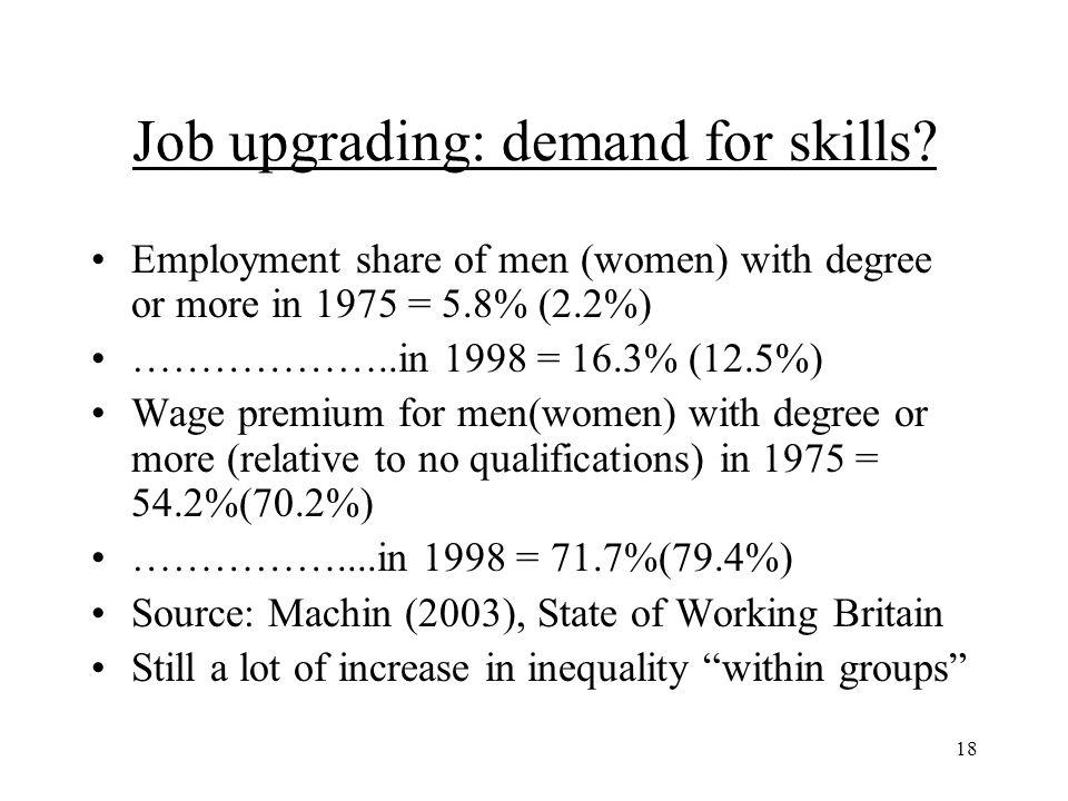 18 Job upgrading: demand for skills.