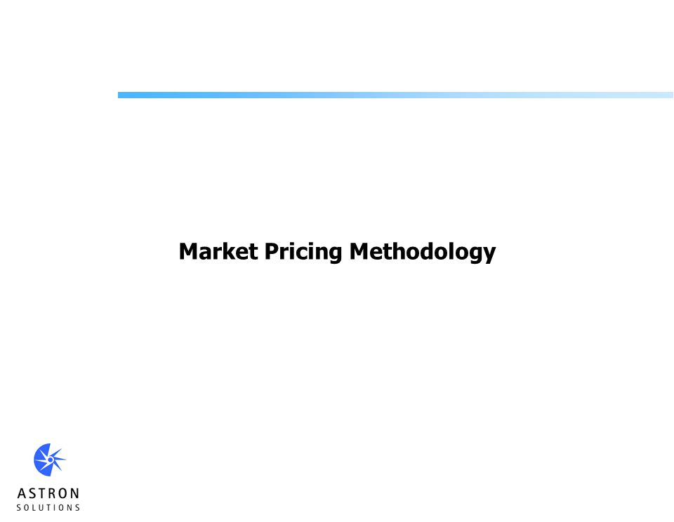 Market Pricing Methodology