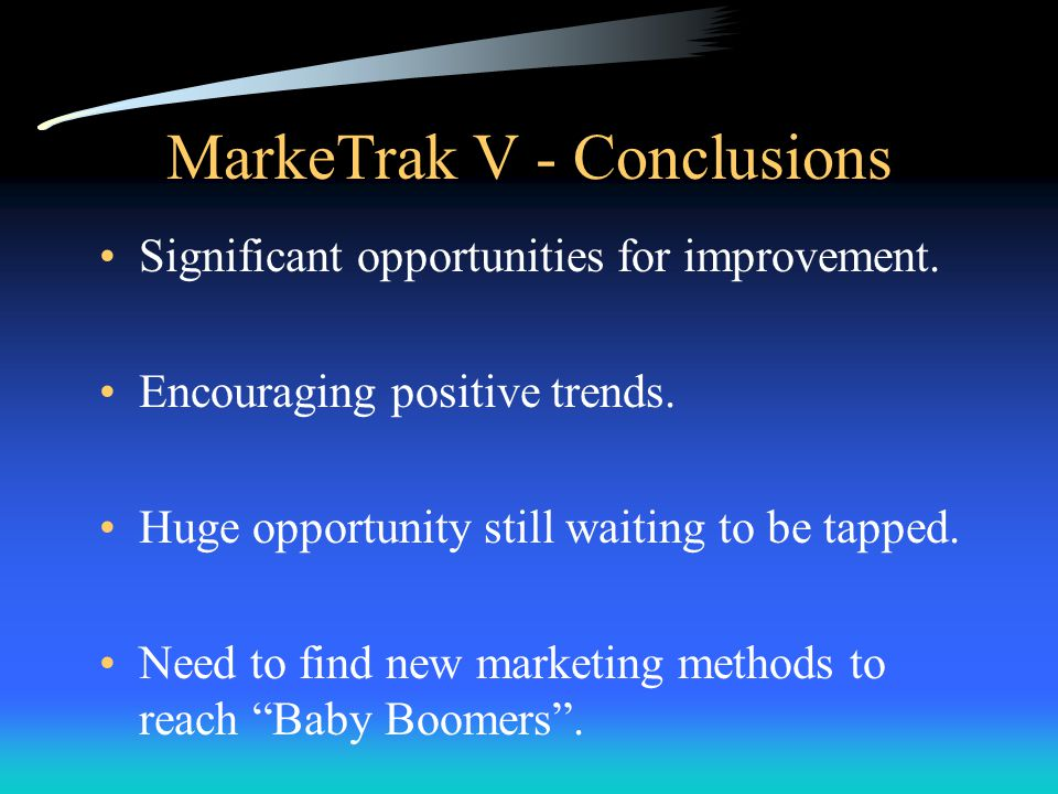 MarkeTrak V - Conclusions Significant opportunities for improvement.