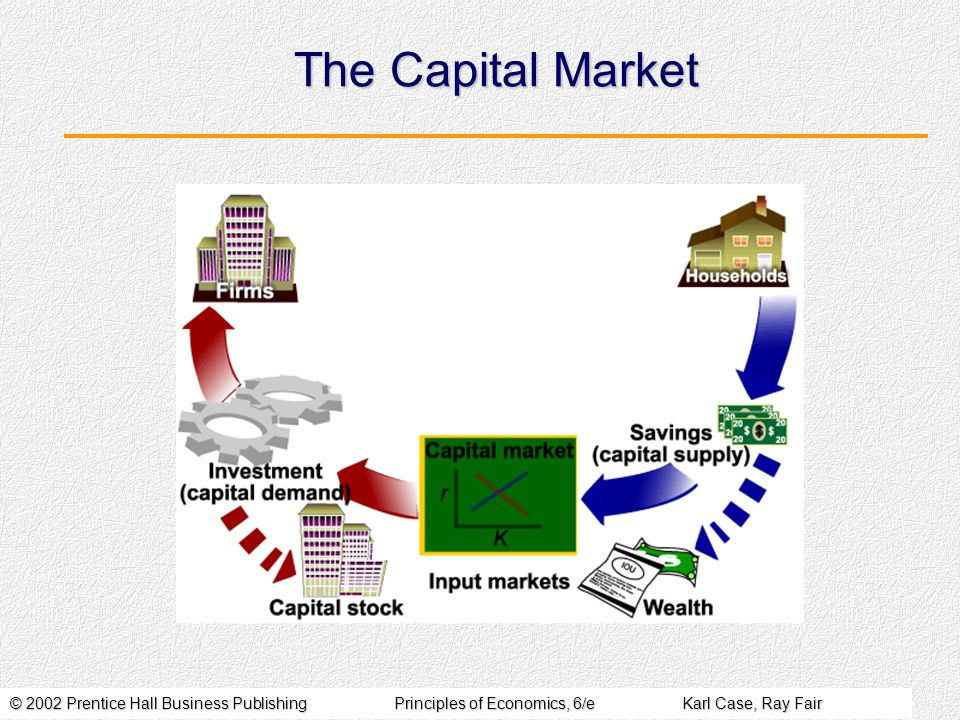 © 2002 Prentice Hall Business PublishingPrinciples of Economics, 6/eKarl Case, Ray Fair The Capital Market