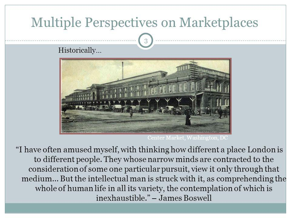 3 Multiple Perspectives on Marketplaces I have often amused myself, with thinking how different a place London is to different people. They whose narr