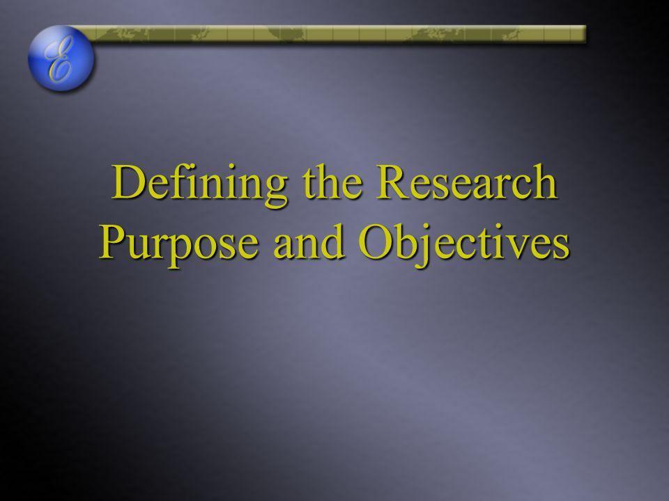 Defining the Research Purpose and Objectives