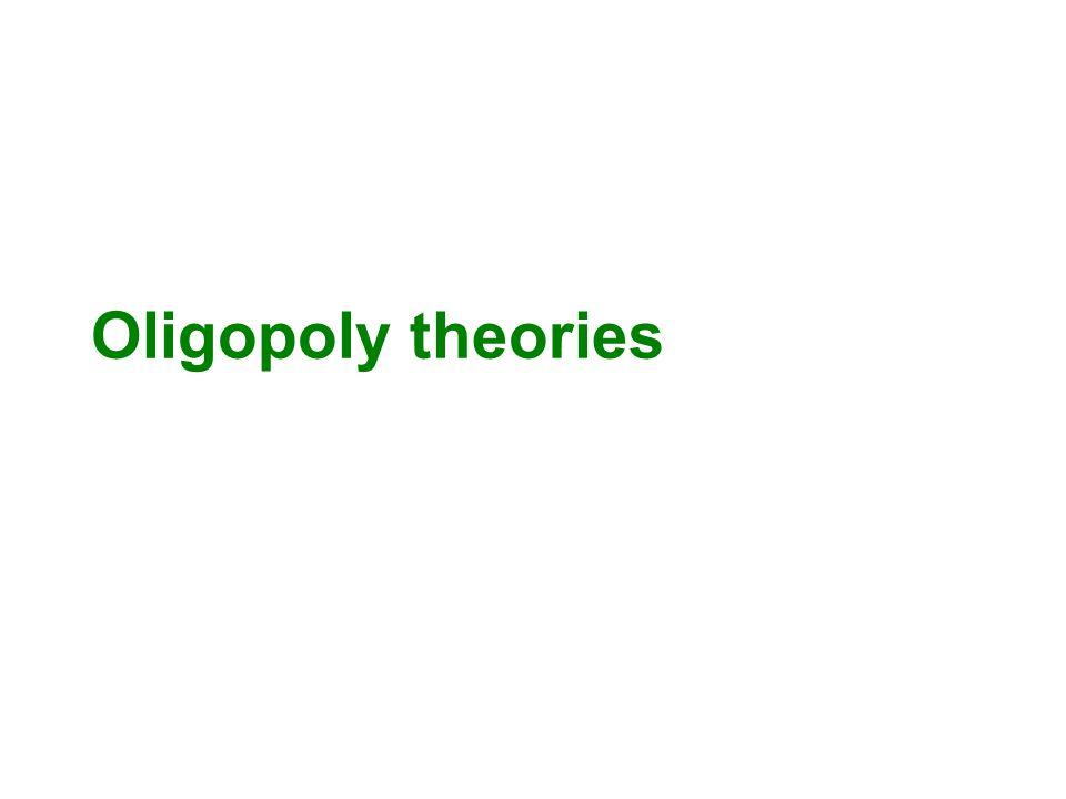 Oligopoly theories