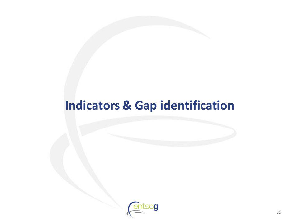 Indicators & Gap identification 15
