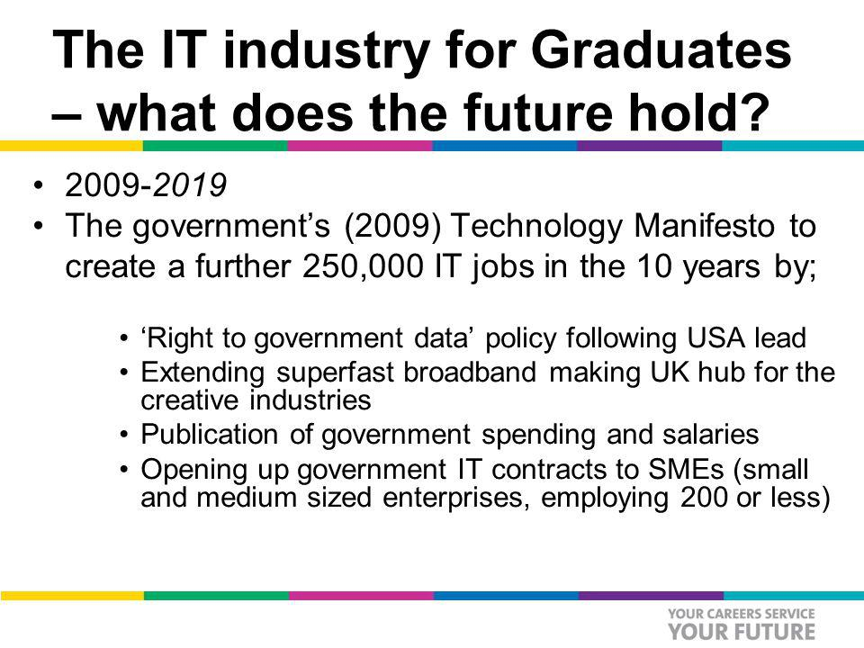 The IT industry for Graduates – what does the future hold.