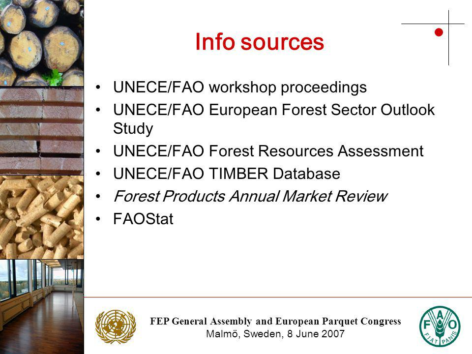 FEP General Assembly and European Parquet Congress Malmö, Sweden, 8 June 2007 Photo: NTC Photo: Stora Enso Geographical distribution of total certified forest area, 2007 Sources: Individual certification systems, Forest Certification Watch and the Canadian Sustainable Forestry Certification Coalition, 2007.
