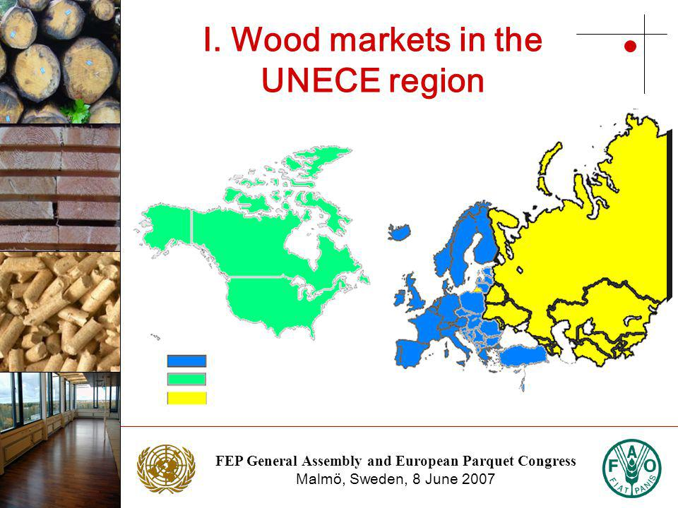 FEP General Assembly and European Parquet Congress Malmö, Sweden, 8 June 2007 Photo: NTC Photo: Stora Enso Consumption in UNECE region Source: UNECE/FAO Forest Products Annual Market Review, 2005-2006
