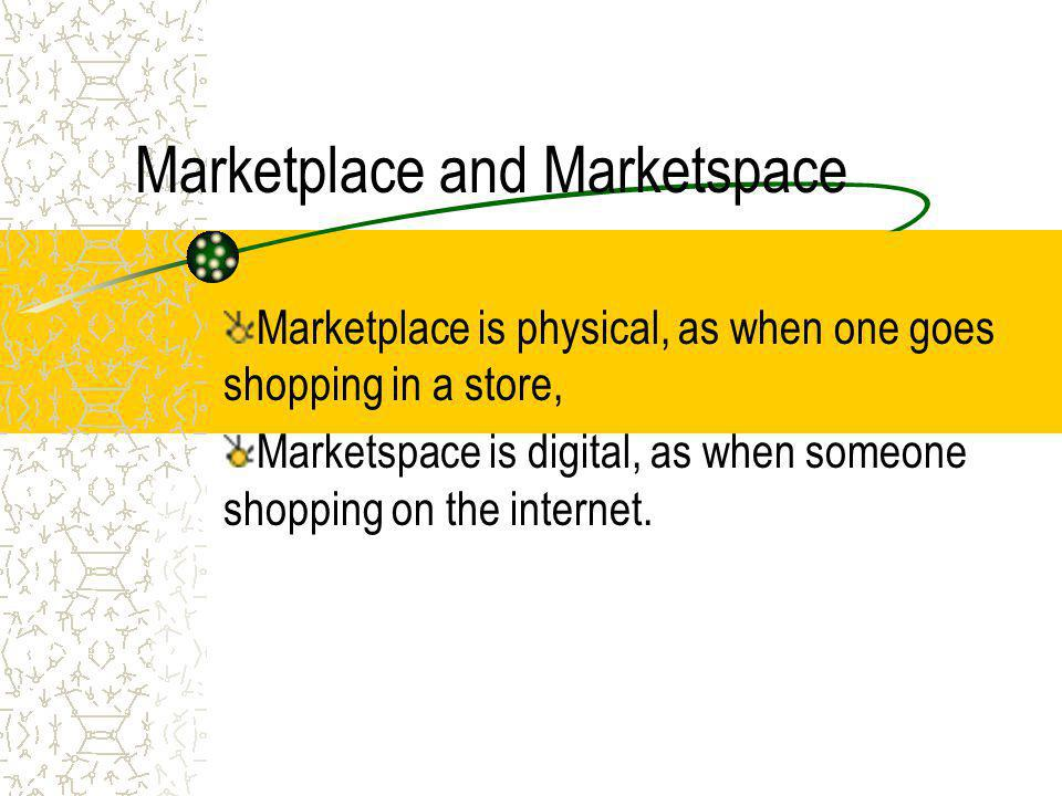 Target Market and Segmentation the relationship between the industry and market Marketplace & Marketspace five basic markets