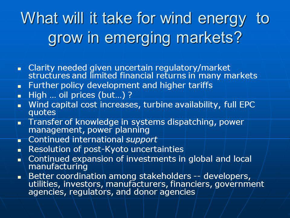 What will it take for wind energy to grow in emerging markets.