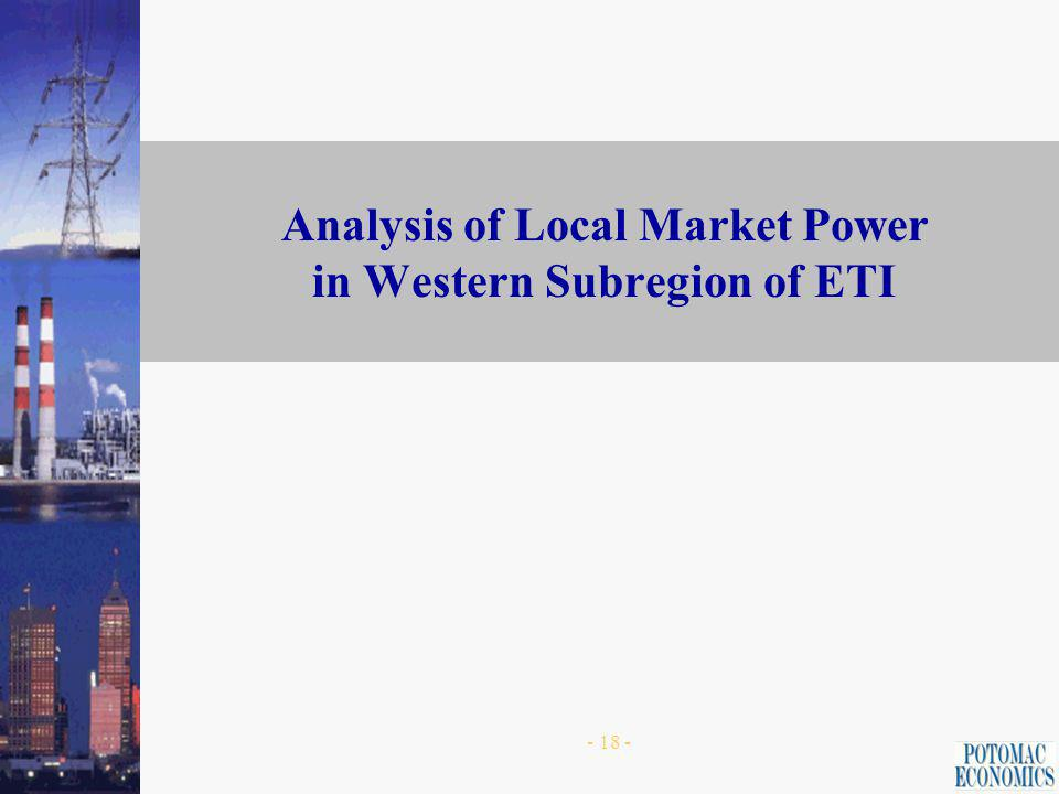 - 17 - Pivotal Supplier Analysis -- ETI Area