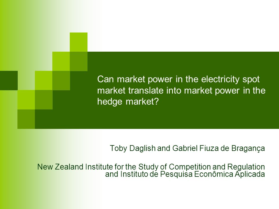 Can market power in the electricity spot market translate into market power in the hedge market.