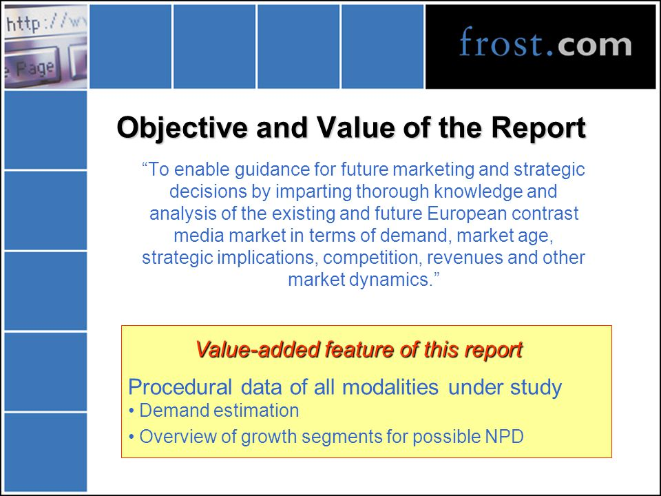 Agenda Objective of the report & briefing Definitions & Overview Market Situation Analysis Future Market Trends Analysis Competitive Environment Challenges Facing the Market Players Strategy Formulation Conclusions