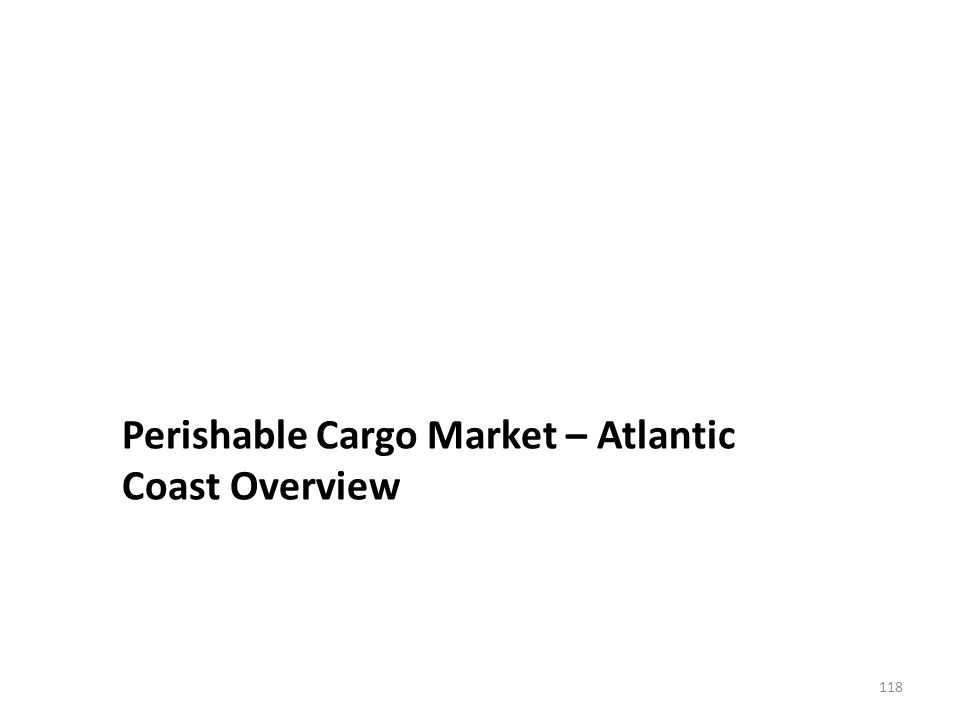 Perishable Cargo Market – Atlantic Coast Overview 118