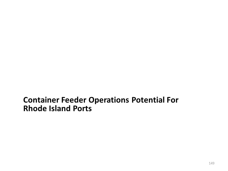 Container Feeder Operations Potential For Rhode Island Ports 149