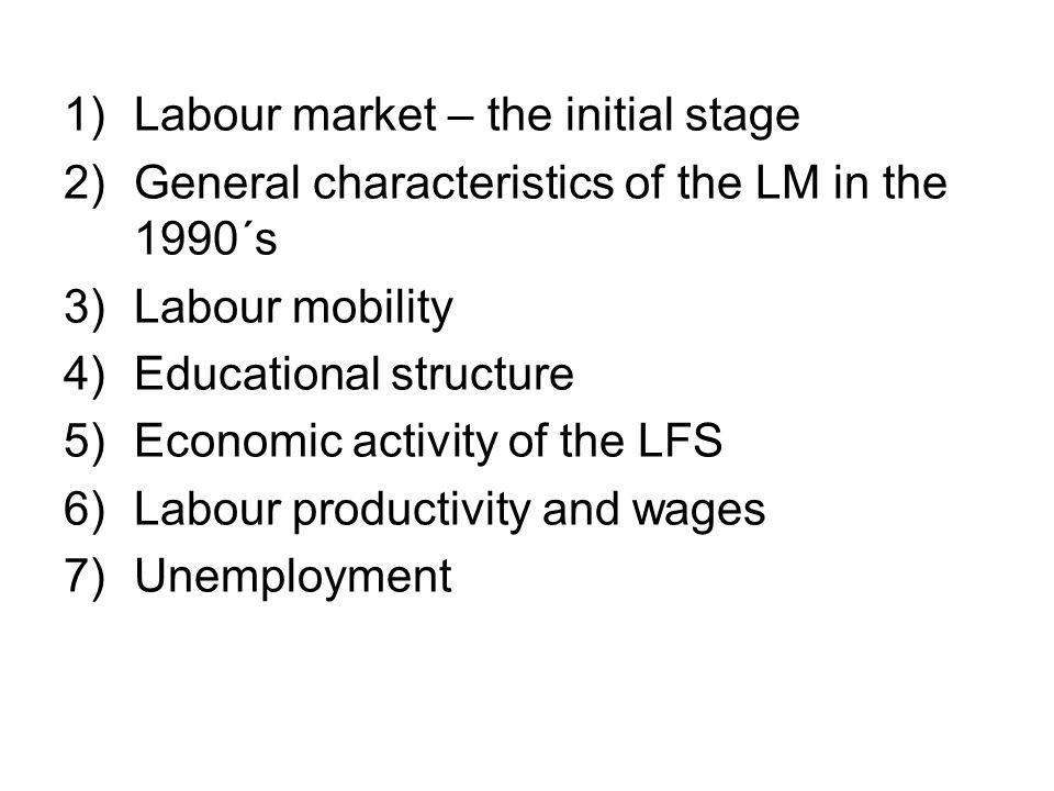Economic activity of the labour force one of the highest rate of labour participation – over 70 % during the whole transition period employment rate – highest level among the V-4 countries why?: tradition (heritage of socialism), low share of shadow economy, low across border job-migration