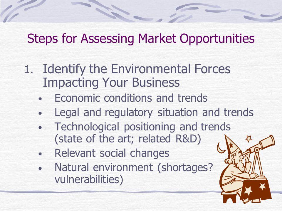Steps for Assessing Market Opportunities 1.